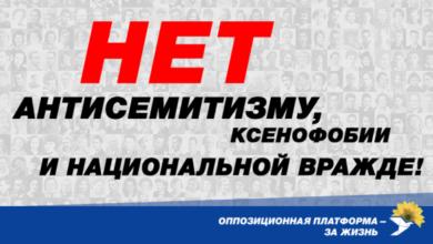 Photo of В Україні немає місця антисемітизму, ксенофобії та національній ворожнечі!