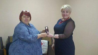 Photo of Голова Ніжинського Товариства Червоного Хреста отримала нагороду. Фото