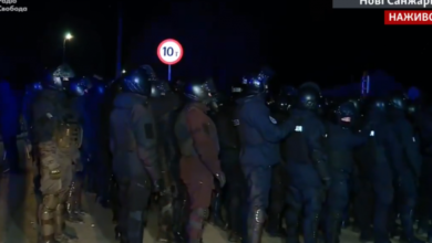 Photo of У Нових Санжарах почалися сутички між поліцією та протестувальниками