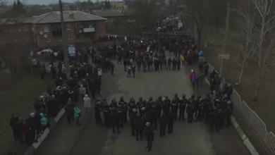 Photo of Протести у Нових Санжарах: відео з дрона