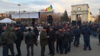 Photo of У Кишиневі пройшли антиурядові мітинги