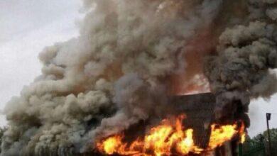 Photo of Уночі на Незалежності згоріла будівля