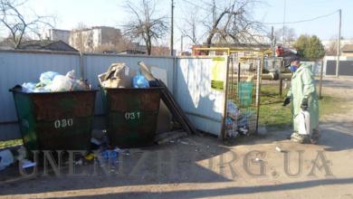 Photo of У Ніжині дезинфікують майданчики ТПВ та сміттєприймальні пункти