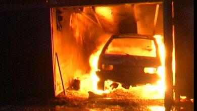 Photo of На Ніжинщині гараж згорів разом з авто