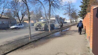 Photo of У Ніжині санітарну обробку здійснили на 20 вулицях. Фото