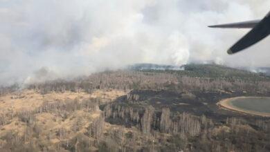 Photo of Пожежа у Чорнобильській зоні: рятувальники залучили авіацію