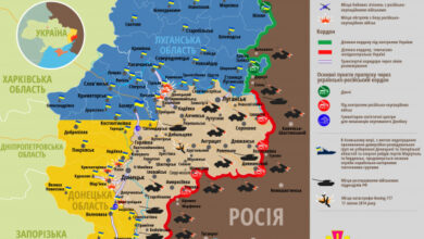 Photo of Карта ООС станом на 2 квітня