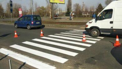 Photo of У Києві відновлюють неякісно нанесену розмітку