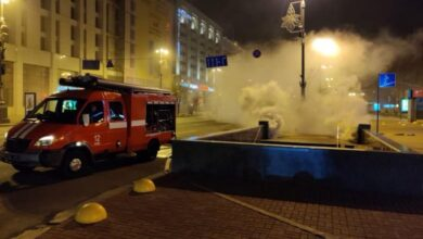 Photo of Пожежа в підземному колекторі на Хрещатику пошкодила кабелі Укртелекому