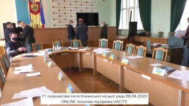 Photo of 71 позачергова сесія Ніжинської міської ради 08.04.2020