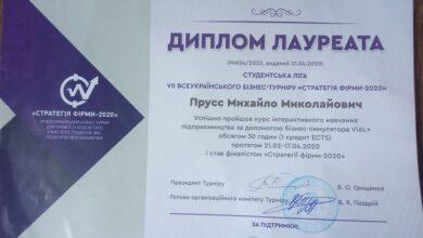 Photo of Ніжинський студент – серед найкращих у Всеукраїнському бізнес-турнірі