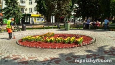 """Photo of Замість фонтану – клумба. """"Я ♥ Ніжин"""" знову на площі. Фото"""