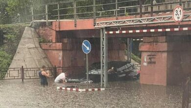 Photo of На Закарпатті паводок зніс міст, що веде до кордону з Польщею