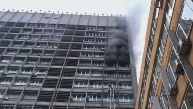 Photo of У центрі Києва загорілася будівля Київпроекту