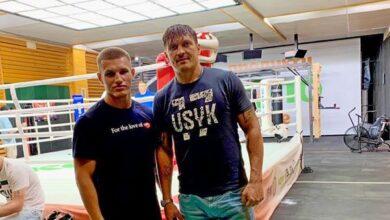 Photo of Ніжинський боксер знімається в промо-ролику з Олександром Усиком