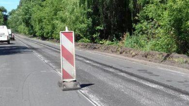 Photo of Триває ремонт автошляху між Ніжином та Прилуками. Фото