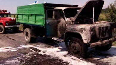 Photo of У Ніжині горів вантажний автомобіль