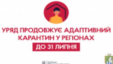 Photo of Уряд продовжує адаптивний карантин у регіонах до 31 липня