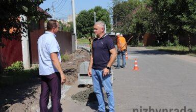 Photo of Міський голова Анатолій Лінник перевірив розпочаті роботи по реконструкції частини вул. Об'їжджа