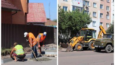 Photo of У Ніжині тривають роботи з реконструкції вулиць та водовідведенню