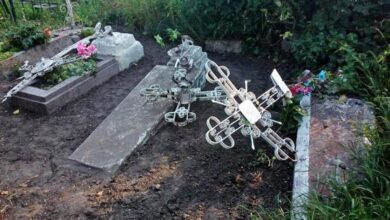 Photo of На одному з ніжинських кладовищ понівечили могили