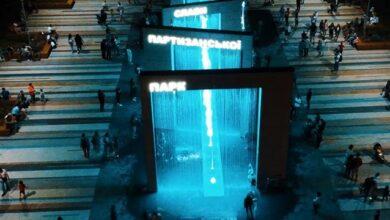 Photo of У Києві відкрили найвищий світловий фонтан в Україні