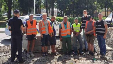 Photo of У Ніжині дорогу ремонтували неоформлені робітники-іноземці