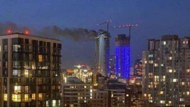 Photo of У Києві горить вежа Taryan Towers