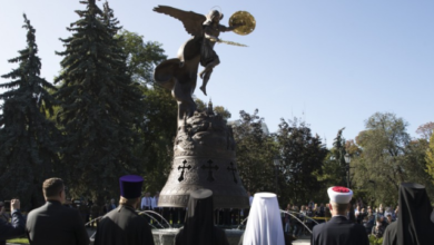 Photo of У Києві відкрили фонтан зі скульптурою Архистратига Михаїла