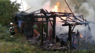 Photo of У Ніжині через замикання електромережі горіла будівля