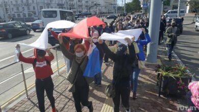 """Photo of У Білорусі кілька десятків тисяч людей вийшли на"""" Марш справедливості"""", силовики стягнули спецтехніку"""