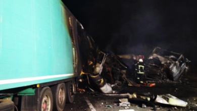 Photo of На Миколаївщині зіткнулися та загорілися дві вантажівки – загинули дві людини
