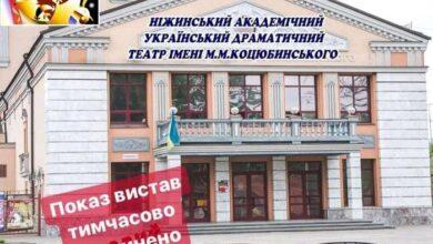 Photo of Відсьогодні Нiжинський драмтеатр призупиняє показ запланованих вистав…