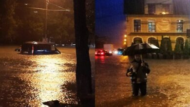 Photo of Води по коліна: потужна злива у Тернополі затопила центральні вулиці