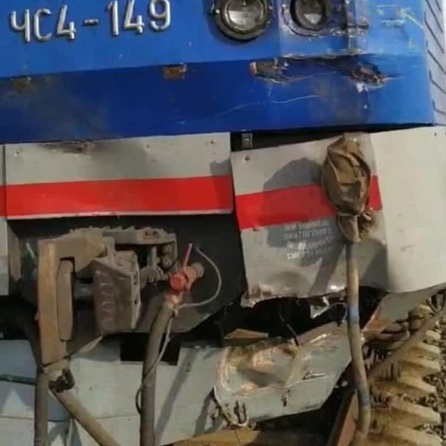 Зіткнення комбайна з потягом